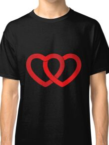 Valentine two Hearts Classic T-Shirt