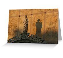 Statue shadow, Venice Greeting Card
