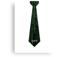 Matrix Tie Canvas Print
