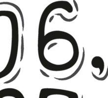 Jiraiya's Dying Message - Naruto (Cryptic) Sticker