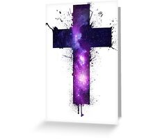 Galaxy Cross Greeting Card