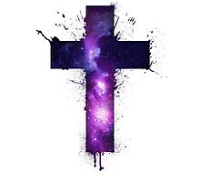 Galaxy Cross Photographic Print