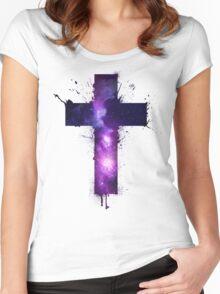 Galaxy Cross Women's Fitted Scoop T-Shirt