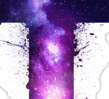 Galaxy Cross Sticker
