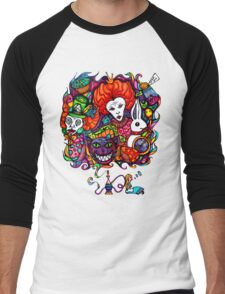 Alice & Hookah Men's Baseball ¾ T-Shirt