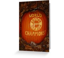 Red Sox 2004 Pumpkin Greeting Card