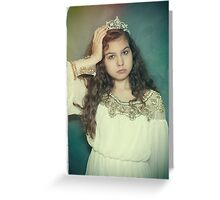 Little tired princess Greeting Card