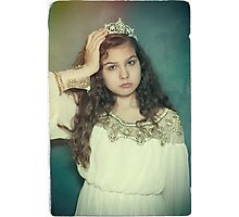 Little tired princess Photographic Print