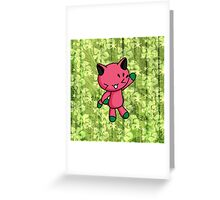 Watermelon Kitty Greeting Card