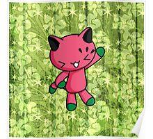 Watermelon Kitty Poster