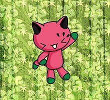 Watermelon Kitty by fushiginaringo
