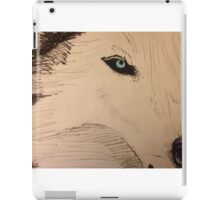 White Wolf with Blue Eyes iPad Case/Skin
