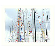 Mass of Masts Art Print