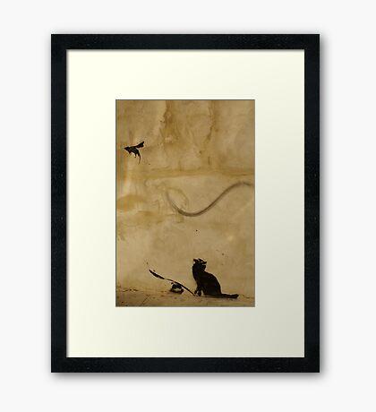Cat vs Rat Framed Print