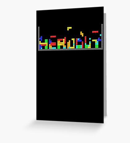 Tetris HeadOut Greeting Card