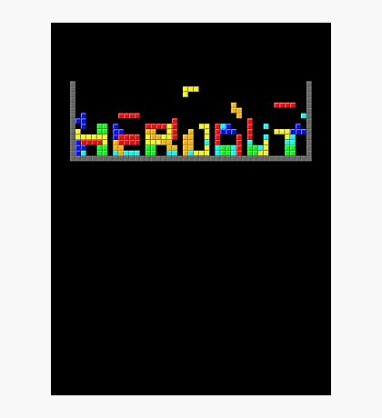 Tetris HeadOut Photographic Print