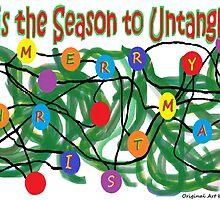 'Tis the Season to Untangle - Christmas card by Jana Gilmore