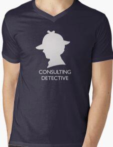 Consulting Detective Sherlock Shirt - Dark Mens V-Neck T-Shirt
