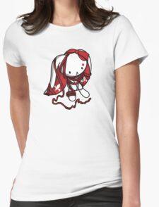 Princess of Diamonds White Rabbit Womens Fitted T-Shirt