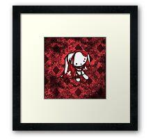 Princess of Diamonds White Rabbit Framed Print