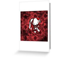 Princess of Diamonds White Rabbit Greeting Card