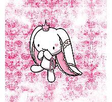 Princess of Hearts White Rabbit Photographic Print