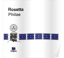 Space Pixels - Rosetta and Philae Poster