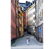 Back Streets of Stockholm Photographic Print