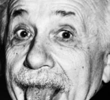 Einstein Tongue Ring Sticker