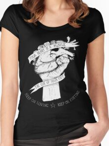Your Heart Is A Muscle Reverse  Women's Fitted Scoop T-Shirt