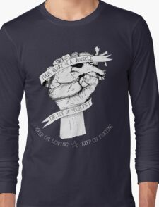 Your Heart Is A Muscle Reverse  Long Sleeve T-Shirt