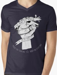 Your Heart Is A Muscle Reverse  Mens V-Neck T-Shirt