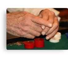 Poker hands Canvas Print