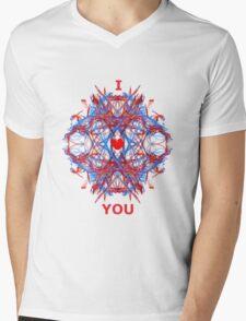 I Love You Fractal Tee Mens V-Neck T-Shirt
