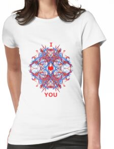 I Love You Fractal Tee Womens Fitted T-Shirt