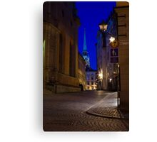 Night in the Old Town Canvas Print
