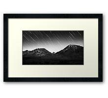 The Sierra Stars Framed Print