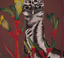 emu with kangaroo paw by caroline ellis