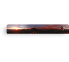 Space Telescope - Fantastic Panoramic shot of telescopes searching space Canvas Print