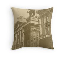 Old look photo of Temple Bar Throw Pillow