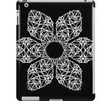 White flower on black iPad Case/Skin