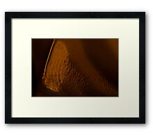 Sliced Framed Print