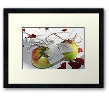 bride & Groom... Framed Print