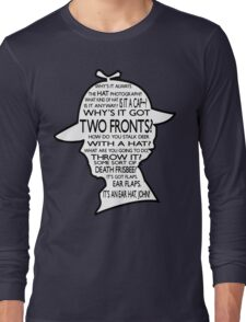 Sherlock's Hat Rant - Dark Long Sleeve T-Shirt