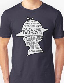 Sherlock's Hat Rant - Dark Unisex T-Shirt