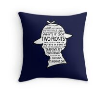 Sherlock's Hat Rant - Dark Throw Pillow