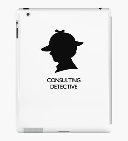 Consulting Detective Sherlock Shirt - Light iPad Case/Skin
