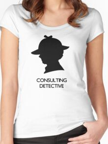 Consulting Detective Sherlock Shirt - Light Women's Fitted Scoop T-Shirt