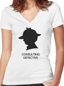 Consulting Detective Sherlock Shirt - Light Women's Fitted V-Neck T-Shirt