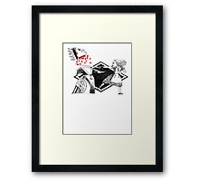 Alice vs. The Red Queen Framed Print